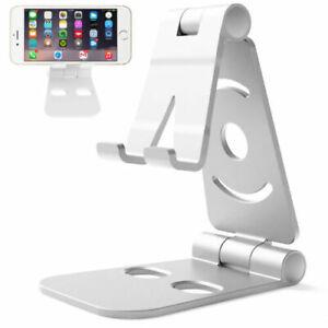 Supporto Telefono Multi-Angles Regolabile Alluminio Scrivania Casa Tablet