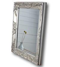 Miroir Argent 62x52cm bois NEUF MURAL BAROQUE de sale Bain à colonne ancien