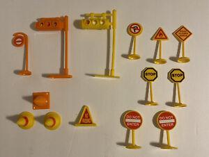 Toy Stop Light Traffic Sign Cone Lot Orange /Yellow