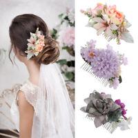 Women's Boho Flower Hair Comb Pins Headband Bridal Wedding Hair Accessories