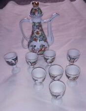 Chinese Pot and Small Cups Without Handles, Sake, Wine, Tea, Aperitif
