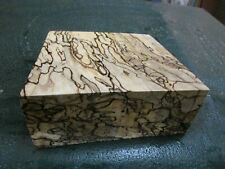 MM-SPALTED  MAPLE  DELUXE  KNIFE BLOCK/SCALES/ CALLS/ PEN BLANKS--MM--24