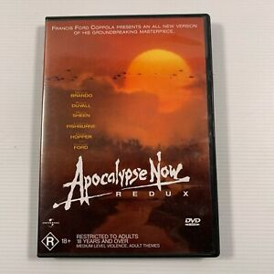 Apocalypse Now Redux (DVD, 2002) 1979 film Harrison Ford, Marlon Brando Region 4