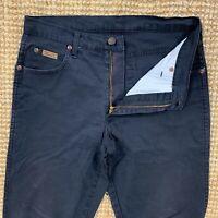 Mens WRANGLER Texas Black Regular Straight Leg Cotton Denim Jeans - W32 L32