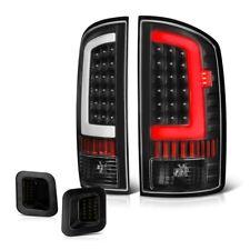 "For 02-06 Dodge RAM 1500 Black ""NEON TUBE"" Tail Lamp+Smoke License Plate Light"
