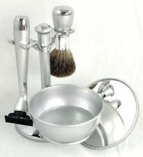 New Shaving Gift Set kit, with Badger Brush, Stand,Soap bowel, Mirror, Razor