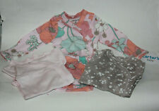 Carters Baby Long Sleeve Bodysuits One Piece Side Snap Floral Grey Preemie Gift