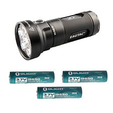 EagleTac MX25L3C XP-G2 3500Lm Flashlight Base-Includes 3x 2600mAh Batteries
