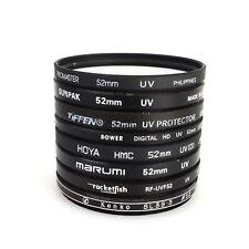 >[Lot of 8] 52mm UV Lens Filters Promaster/Marumi/HOYA