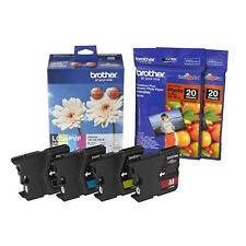 GENUINE Brother LC39PVP 4 Colours Photo Value Pack Ink Cartridge + Photo Papers