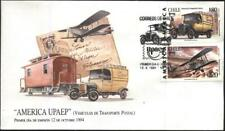 FDC  America UPAEP Postal Transport Vehicles 1994 from Chile avdpz