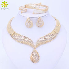 Fashion Women Wedding Jewelry Sets Gold Plated Necklace Earrings Set Gift New