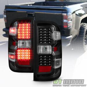 Black 2014-2018 Chevy Silverado 1500 2500 HD 3500 HD LED Tail Lights Brake Lamps