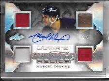 2016 Leaf Ultimate MARCEL DIONNE SIGNATURE RELICS QUAD PATCH AUTO SP #2/2!