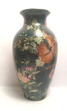 More details for vintage chinese vase floral design signed marks to base