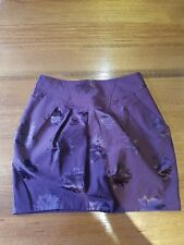 Cue printed skirt with pockets, size 10. Cotton blend. New without tags.