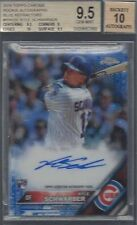 KYLE SCHWARBER 2015 TOPPS CHROME BLUE REFRACTOR ON CARD AUTO RC /150 BGS 9.5 10