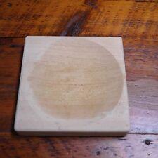 Solid Maple Wood Germany Round Mezzaluna Herb Chopper Cutting Board