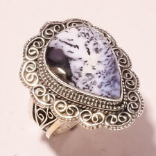 """Ethnic Jewelry Ring S-9"""" Vr-701 Dendrite Opal Vintage Style Gemstone Fashion"""