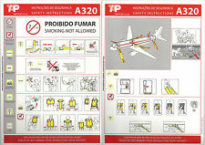 TAP Portugal Airbus A320 Safety Card, May 2008 edition