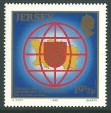 Jersey 1983 - Intl. Assoc French-Speaking Parliamentarians Map - Sc 315 MNH
