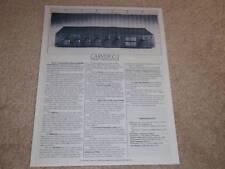 Carver C-2 Preamp Spec Sheet,1 pg, Info,1987