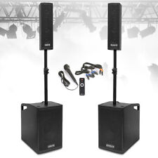 VX-1050 Active PA Speaker System, Subwoofers & Microphone Powerful DJ Disco Set