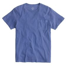 J. Crew Garment-dyed Men's Pocket T-shirt Made in USA Deep Pool Blue NEW XL