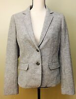 New GAP Womens Size 10 Gray Blazer Wool Nwt $98
