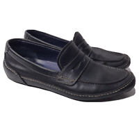 Cole Haan Mens 8.5 Black Leather Driving Mocs Loafer Slip On Casual Shoes