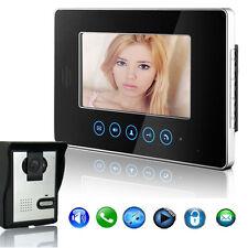 TFT 7 Inch Touch Key Color LCD Video Door Phone Doorbell Alarm Intercom System