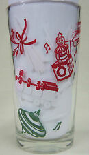 Christmas Santa In Chimney Peanut Butter Glass Glasses Drinking  Mauzy 134-3