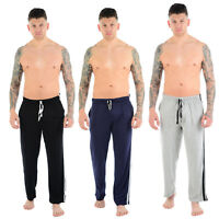 MENS LOUNGE WEAR PANTS TROUSERS PYJAMAS NIGHTWEAR BOTTOMS STRIPED PJS JOGGERS
