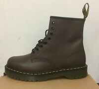 DR. MARTENS 1460  BROWN SMOOTH    LEATHER  BOOTS SIZE UK 3