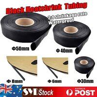 Dia= 6mm 8mm 30mm 50mm Heatshrink 2:1 Tubing Sleeve Heat Shrink Wire/Cable Wraps
