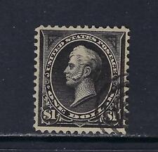 1895 U.S. Scott 276 $1 black TY I Perry first bureau DLWM corner target cancel