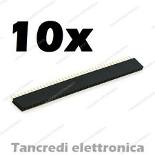 10x Connettori strip line 40 poli Femmina Stripline 2.54mm circuito stampato pcb