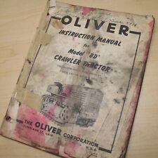 Oliver Model Bd Crawler Tractor Owner Service Repair Instruction Manual Shop