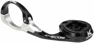 K-EDGE Lezyne Race Computer Handlebar Mount: 31.8mm, Black/Clear Anodized