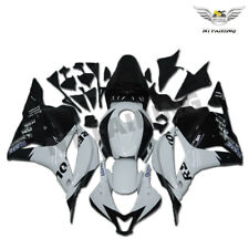 Fit for Honda 09-12 CBR600RR White Black Repsol Injection Fairing Plastic a019