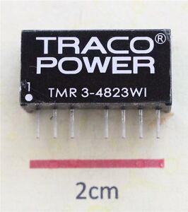 TRACO TMR 3-4823WI 3W Isolated DC-DC Converter Vin 18 to 75Vdc Vout ±15Vdc
