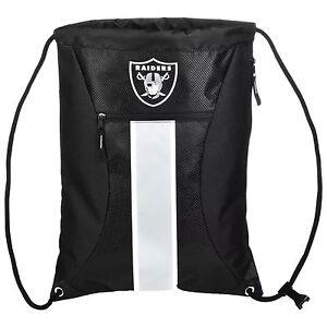 NFL Las Vegas Raiders Big Stripe Zipper Drawstring Backpack
