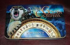 The Golden Compass DOMINOES Set ❤ Standard Size Double Six Set in Decorative Tin