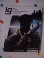 revue magazine IG Mag # 20 juin juillet 2012 NEUF cod black ops 2 fumito ueda