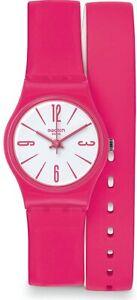 Swatch Backhand Quartz Movement White Dial Ladies Watches LZ112