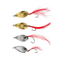 Fishing Spinner Spoon Lures Bass Trout Fishing Tackle Baits Pack of 4pcs