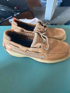 Sperry Top Sider Mens Leather Tan Size 10 M Deck Boat Shoes