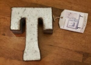 Belle Maison Decorative Country Rustic Galvanized Letter TWall Hanging Home Deco