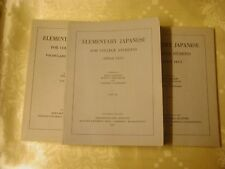 Elementary Japanese Part for College Students Harvard Part 1-3