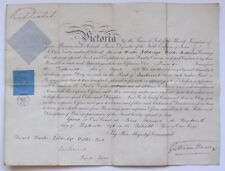 Queen Victoria, 1837-1901. A Signed Royal Military Commission Document, 1876.